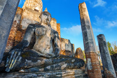 Wat Phra Si Rattana Mahathat, Chaliang przy Si Satchanalai Dziejowym parkiem w Sukhothai -, Tajlandia Fotografia Stock