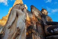 Wat Phra Si Rattana Mahathat, Chaliang przy Si Satchanalai Dziejowym parkiem -, UNESCO światowego dziedzictwa miejsce Zdjęcia Royalty Free