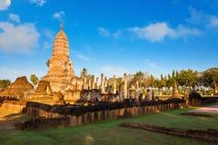 Wat Phra Si Rattana Mahathat, Chaliang przy Si Satchanalai Dziejowym parkiem -, UNESCO światowego dziedzictwa miejsce Obrazy Stock