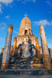 Wat Phra Si Rattana Mahathat, Chaliang przy Si Satchanalai Dziejowym parkiem -, UNESCO światowego dziedzictwa miejsce Zdjęcia Stock