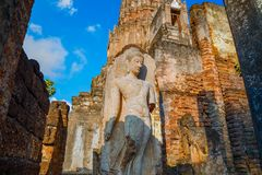 Wat Phra Si Rattana Mahathat - Chaliang at Si Satchanalai Historical Park, a UNESCO World Heritage Site in Sukhothai, Thailand Stock Images
