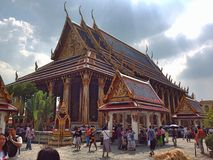 Ourists visit Temple of the Emerald Buddha  Stock Photos