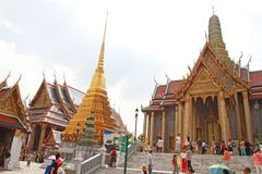 Tourists visit Temple of the Emerald Buddha Royalty Free Stock Photography