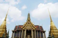 Wat Phra Si Rattana Satsadaram & golden stupas in Bangkok, Thailand, Asia Royalty Free Stock Photo