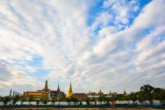 Wat Phra Si Rattana Satsadaram thailändska Wat Phra Kaew Arkivbild
