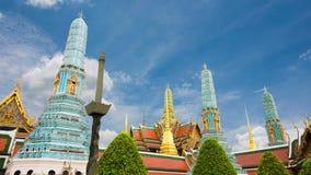 Wat Phra Si Rattana Satsadaram or wat phra kaew beautiful architecture, historic attractions stock footage