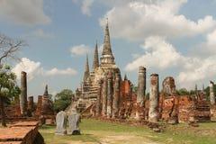 Wat Phra Si San Phet Ayutthaya Tailandia Foto de archivo libre de regalías