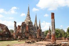 Wat Phra Si San Phet Ayutthaya Tailandia Fotos de archivo libres de regalías
