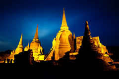 Wat Phra Si San Phet Ayutthaya Tajlandia Obrazy Stock