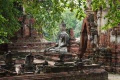 Wat Phra Si Sanphet遗骸在阿尤特拉利夫雷斯,泰国 库存照片