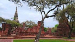 Wat Phra Si Sanphet,阿尤特拉利夫雷斯,泰国站点  股票录像
