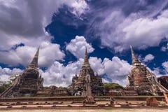 Wat Phra Si Sanphet Authaya,泰国 免版税库存照片