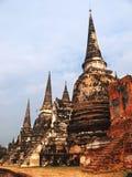 Wat Phra Si Sanphet, Ayuthaya Stock Afbeeldingen