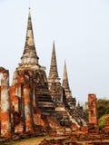 Wat Phra Si Sanphet, Ayuthaya Royalty Free Stock Photo