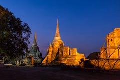 Wat Phra Si Sanphet, Ayuthaya, Tajlandia Fotografia Stock