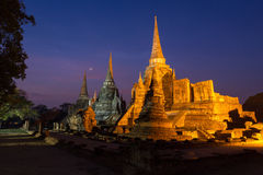 Wat Phra Si Sanphet, Ayuthaya, Thailand Royalty-vrije Stock Afbeelding