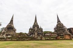 Wat Phra Si Sanphet, Ayutthaya Таиланд стоковое изображение rf