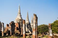 Wat Phra Si Sanphet, Ayutthaya, Таиланд Стоковые Фото
