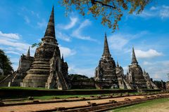 Wat Phra Si Sanphet - Ayutthaya imagens de stock