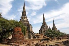 Wat Phra Si Sanphet, Ayutthaya Stock Photos