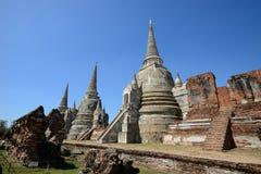 Wat Phra Si Sanphet, Ayutthaya Стоковые Изображения RF