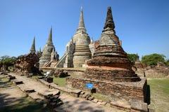 Wat Phra Si Sanphet, Ayutthaya Стоковая Фотография