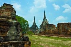 Wat Phra Si Sanphet in Ayutthaya, Tailandia Fotografie Stock