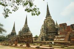 Wat Phra Si Sanphet, in Ayutthaya stock afbeeldingen