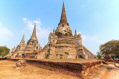 Wat Phra si Sanphet in Ayutthaya, Thailand Royalty Free Stock Photography