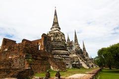 Wat Phra Si Sanphet, Ayutthaya Thailand - ein Tempel in Ayutthaya in den Ruinen des königlichen Tempels, der in t das wichtigste  Lizenzfreies Stockfoto