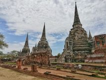 Wat Phra Si Sanphet, berühmte alte Stadt und historischer Platz in Thailand Lizenzfreies Stockbild