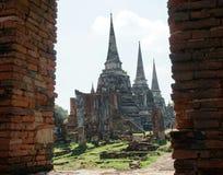 Wat Phra Si sanphet de belangrijkste tempel in Ayutthaya Thailand op 24,2017 September Stock Foto's