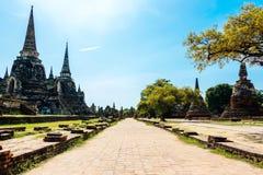 Wat Phra Si Sanphet is een populaire toeristische attractie stock afbeelding
