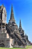 Wat Phra Si Sanphet en buddistisk tempel i Ayutthaya, Thailand Arkivfoto