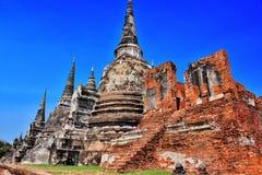 Wat Phra Si Sanphet en buddistisk tempel i Ayutthaya, Thailand Royaltyfri Bild