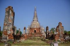 Wat Phra Si Sanphet está em Ayutthaya, Tailândia Foto de Stock Royalty Free