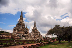 Wat Phra Si Sanphet i Ayutthaya, Thailand Royaltyfri Foto