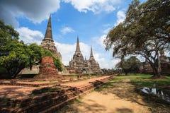 Wat Phra Si Sanphet i Ayutthaya, Thailand Arkivbilder
