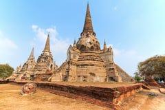 Wat Phra Si Sanphet i Ayutthaya, Thailand Royaltyfri Fotografi
