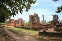 Wat Phra Si Sanphet Phra Nakhon si Ayutthaya, Thailand Härligt av historisk stad på buddhismtemplet arkivbilder