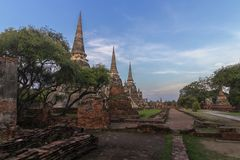 Temple in Ayutthaya, Thailand . royalty free stock photos