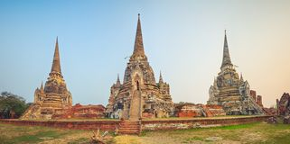 Wat Phra Si Sanphet Panorama Fotografia Stock Libera da Diritti