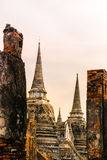 Wat Phra Si Sanphet at sunset , Ayutthaya, Thailand Stock Photography