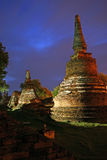 Wat Phra Si Sanphet temple at Ayutthaya, the second Thailand capital Royalty Free Stock Images