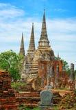 Wat Phra Si Sanphet temple. Thailand, Ayutthaya Royalty Free Stock Photos