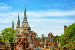 Wat Phra Si Sanphet temple. Thailand, Ayutthaya Royalty Free Stock Photo