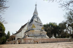 Wat Phra That Si Song Rak temple in Loei, Thailand. Wat Phra That Si Song Rak temple architecture is in the Lan Chang style for people visit and praying Chedi Royalty Free Stock Image