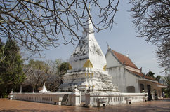 Wat Phra That Si Song Rak temple in Loei, Thailand. Wat Phra That Si Song Rak temple architecture is in the Lan Chang style for people visit and praying Chedi Stock Image