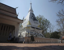 Wat Phra That Si Song Rak temple in Loei, Thailand. Wat Phra That Si Song Rak temple architecture is in the Lan Chang style for people visit and praying Chedi Stock Images
