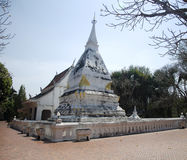 Wat Phra That Si Song Rak temple in Loei, Thailand. Wat Phra That Si Song Rak temple architecture is in the Lan Chang style for people visit and praying Chedi Stock Photo